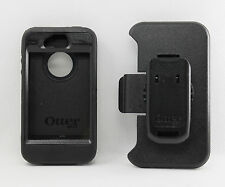 OtterBox Defender Rugged Hard Case w/Holster Belt Clip fo iPhone 4S 4 Black USED