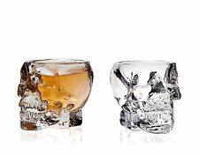 Generic 239-2a Skull Shot Glass (Set of 2) Transparent Barware Drinkware
