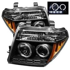 Projector Head Lamps For Nissan Frontier 05-08 Pathfinder 05-07 HALO LED Black