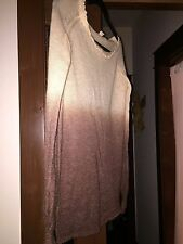 Anthropologie forever 21 peach brown ombre mohair long sweater l