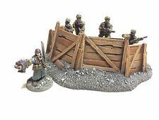 28mm Tall Medium Barricade Resin Defense Line Trench Terrain Scenery Wargaming