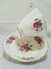 Vintage Clarence English Bone China Tea Cup & Saucer