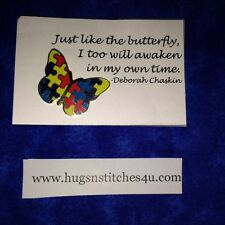 Autism Awareness Butterfly Pin