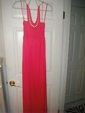 NWT Women's Juicy Couture Coral Maxi Dress P Petitie Small $298