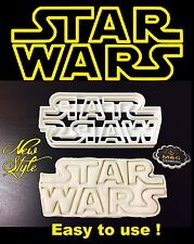 Large Star Wars Logo Uk Seller Plastic Biscuit Cookie Cutter Fondant Cake Decor