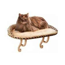 Cat Window Bed Deluxe Kitty Sill Seat Pet Microfleece Sun Bath Bolster Bed New