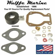 Carburetor Kit with Float for Johnson Evinrude 7.5, 8, 9.9, 15 Hp 398452 18-7223