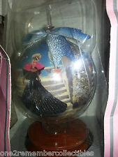 BARBIE Keepsake 1998 HOLIDAY BARBIE DOLL DECOUPAGE Christmas Ornament WOOD BASE