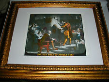 """C.T. Russell PHOTO-DRAMA OF CREATION photo """"Chained Bible"""" Watchtower IBSA"""