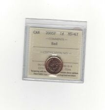 **2005P**ICCS Graded Canadian Small One Cent, **MS-67**