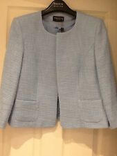 Precis Petite Cotton Blend Pale Blue Jacket