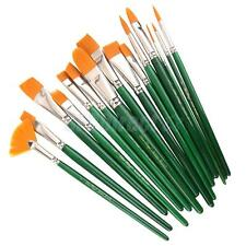 Professional 15Pcs Paint Brushes Artist Acrylic Oil Watercolors Painting Set