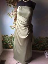 Mori Lee Women's Pastel Green Satin Draped Dress SZ 20