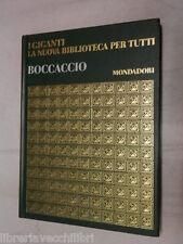 GIOVANNI BOCCACCIO Mondadori I giganti della letteratura 1968 libro saggistica