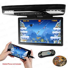 "HDMI 15"" HD LCD Car Coach Motor Home USB DVD Player 1080P Flip Down Monitor Game"