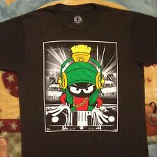 new MARVIN THE MARTIAN DJ T-Shirt LOONEY TUNES Small SPINNING RECORDS Headphones