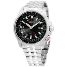 Citizen Black Dial Stainless Steel Men's Watch BJ707057E