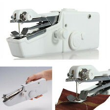 Portable Mini Home Travel Desk Sew Quick Hand-held Stitch Clothes Sewing Machine