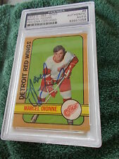 MARCEL DIONNE HAND SIGNED 1972 O-PEE-CHEE CARD PSA ENCAPSULATED