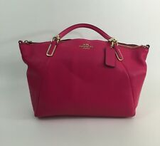 COACH PEBBLED LEATHER KELSEY PINK SATCHEL HANDBAG