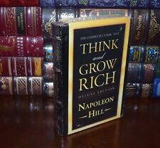Think and Grow Rich by Napoleon Hill Deluxe Sealed Leather Bound Edition