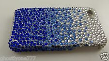 for Iphone 4 4S phone case bling crystals blues and clear