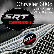 Chrysler 300c SRT Design Logo Grille & Rear Wing Badge Emblems