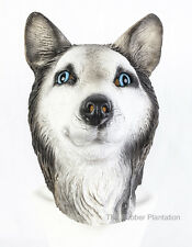 Siberian Husky Mask Dog Latex Animal Fancy Dress Canine Halloween Malamute Wolf