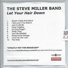 STEVE MILLER BAND Let Your Hair Down UK 10-trk numbered promo test CD sealed