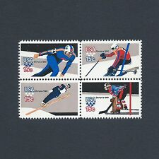 1980 Winter Olympics USA at Lake Placid 36 Year Old Mint Set of 4 Stamps L@@K!
