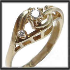 18ct GOLD REAL DIAMONDS Solitaire Ring size P jewellery company