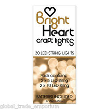 Tattered Lace BRIGHT HEART CRAFT LIGHTS 2x10 + 2x5 LED Strings & Batteries INCL