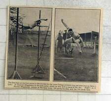 1925 Oxford Pole Vault, D Sumner, Ae Porritt Twins Long Jump