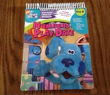 Blues Clues Room Numbers Play Date Take-Along Wipe-Off Workbook Pre-K Book NEW