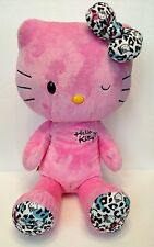 "Build A Bear Hello Kitty Pink Winking 18"" Leopard Feet With Bow Sanrio Plush"