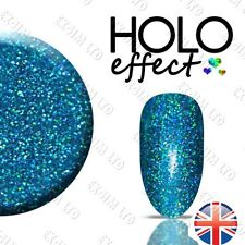 LASER TURQUOISE HOLO MERMAID EFFECT NAIL ART POWDER  GEL ACRYLIC Holographic 23