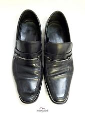 Hugo Boss Black Leather Loafers Shoes 9 M
