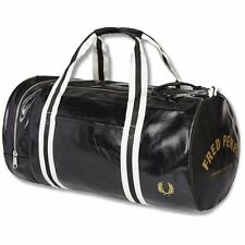 Fred Perry Classic Barrel Gym Bag Travel Fitness Black Mens