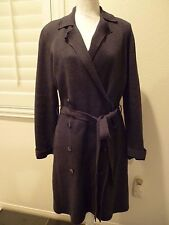 MAG BY MAGASCHONI GRAY Cotton Cashmere cardigan sweater coat SZ L-EUC