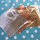 5 x sheets 14x14cm Imitation Gold+Silver+Copper Leaf Gilding Art Craft DIY*
