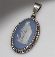 925 SILVER ORNATE BLUE CAMEO PENDANT / W 770
