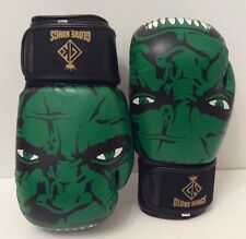 GK Incredible Hulk Boxing Gloves Muay Thai K1 MMA UFC  Rdx Leather 12-16 Oz