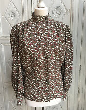 Vintage Planet High Neck Blouse - Paisley Print - 1980s/90s Size 16