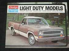 1972 Dodge Fargo Light Duty Trucks Sales Brochure CDN
