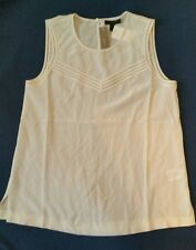 J Crew Ladder-stitch silk shell #C5693 $88 Ivory Sz 4 Small Sold out top shirt
