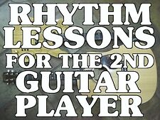 Rhythm Lessons For The 2nd Guitar Player DVD Video. For Rock Country Blues More!