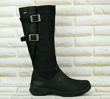 LEGERO Gore-Tex Black Leather Womens High Long Boots Waterproof Size 5 UK 38 EU