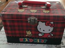 1991 Vintage HELLO KITTY Sanrio METAL BOX / LUNCHBOX Used RARE tin