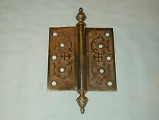 "1 BRONZE DOOR HINGES~VICTORIAN 100 % VINTAGE~ 5 by 5"" X 3/16"". PAT JAN 18. 1870."