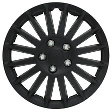 """14"""" Inch Black Hubcaps Indy Wheel Rim Covers Set Of 4 New Cheap High Quality ABS"""